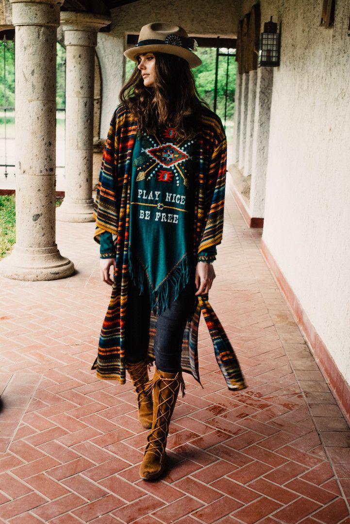 Les Gauchos Kimono 100% Poly