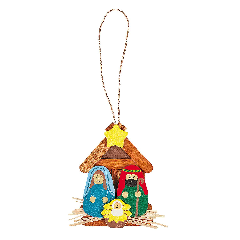 Nativity Christmas Ornament Craft Stick Craft Kit Christmas Ornament Crafts Ornament Crafts Christmas Ornaments