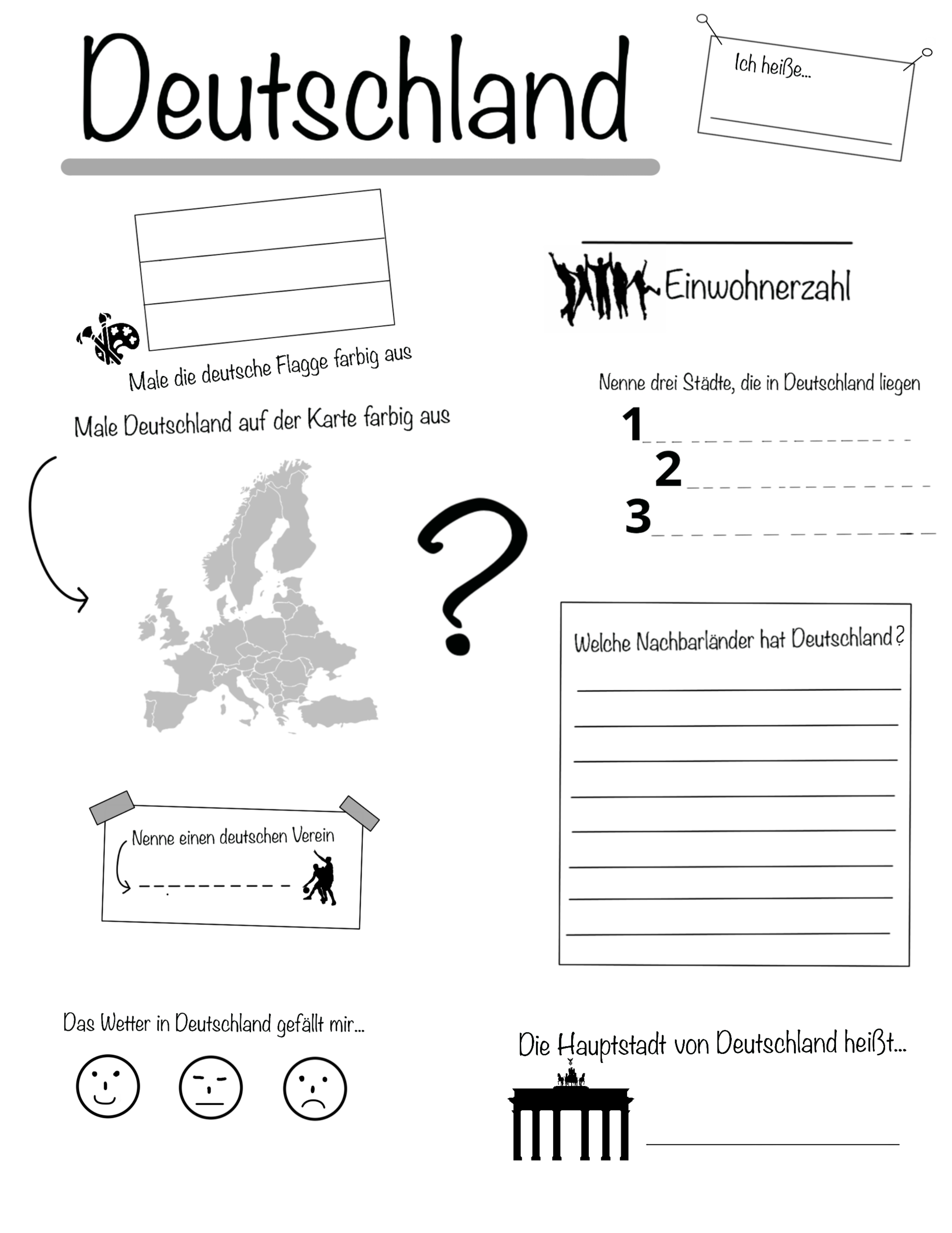 Allgemeiner steckbrief deutschland – unterrichtsmaterial im fach ...