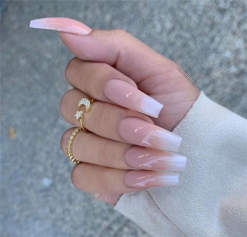The Ombre Coffin Nails Design Are So Perfect For 2019 Spring And Summer Ombrenails Coffinnails Jew Ombre Acrylic Nails Coffin Nails Long Pretty Acrylic Nails
