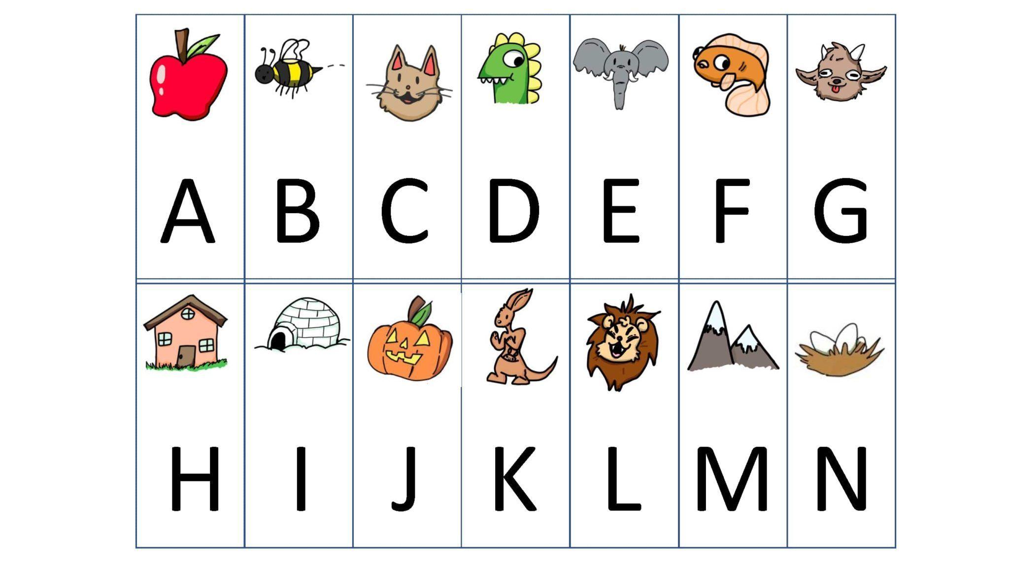 Alphabet Cards For Dyslexia