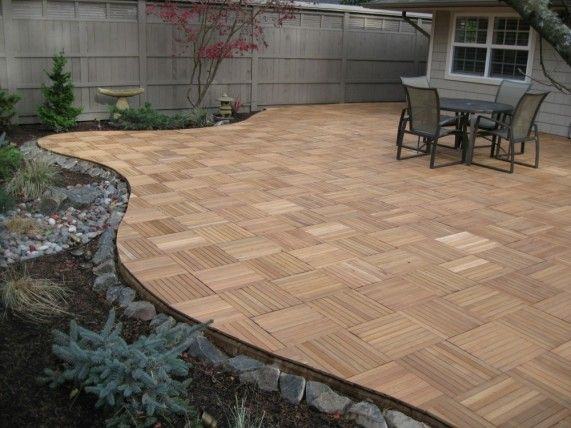 Charming Interlocking Wood Deck Tiles Real Wood XL Series