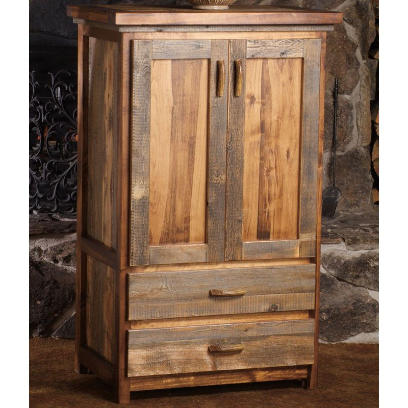 Beau We Proudly Offer This Wyoming Reclaimed Wood Armoire   2 Drawer And Other  Fine Rustic American Made Reclaimed Wood Furniture And Décor.