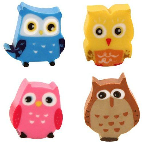 Kikkerland Owl Erasers, Set of 10 (ER34) Kikkerland https://smile.amazon.com/dp/B00FVWYXXW/ref=cm_sw_r_pi_dp_KPgAxbJXDTARD