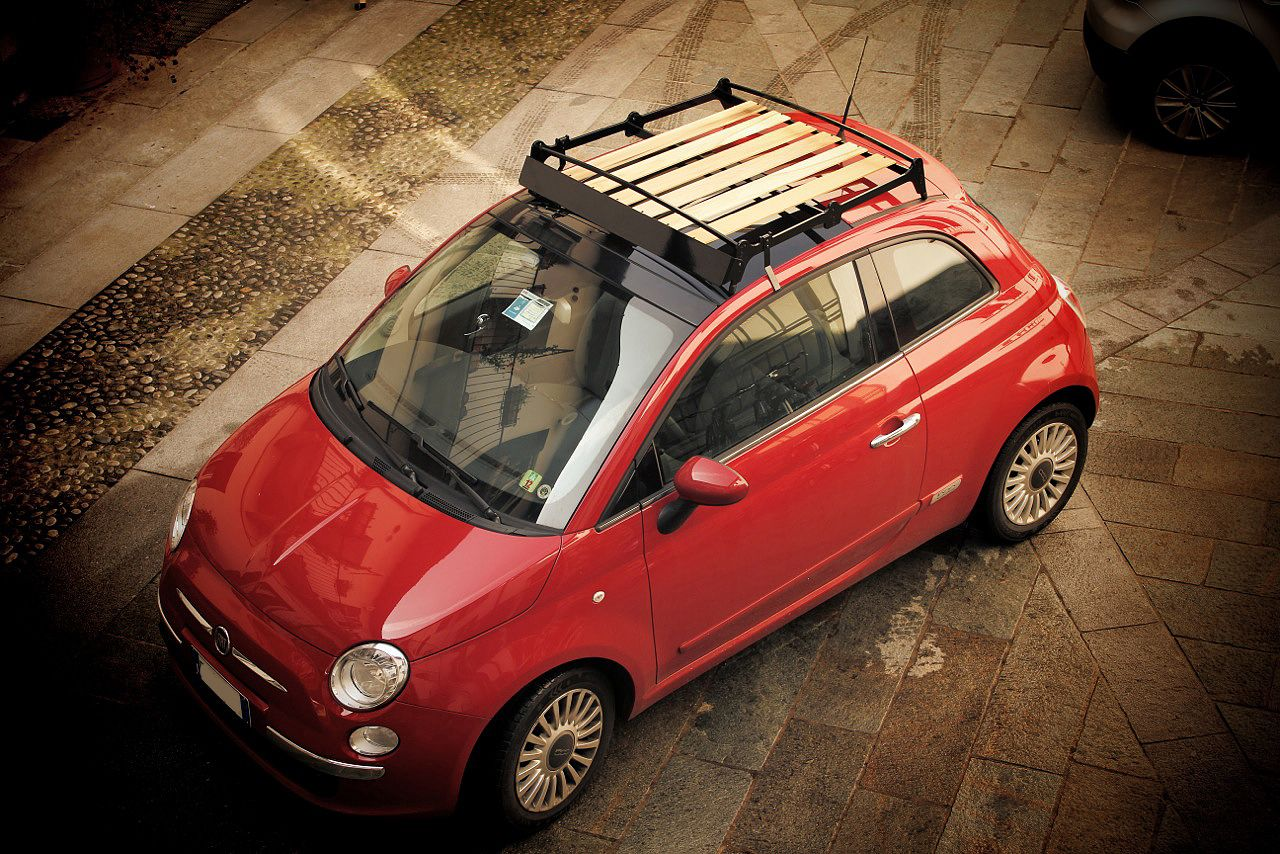 Iq Portabagagli Intelligent Travelling Awesome Little Roof Rack For 500 That Combines Modern Materials And Looks With Vintage Eal