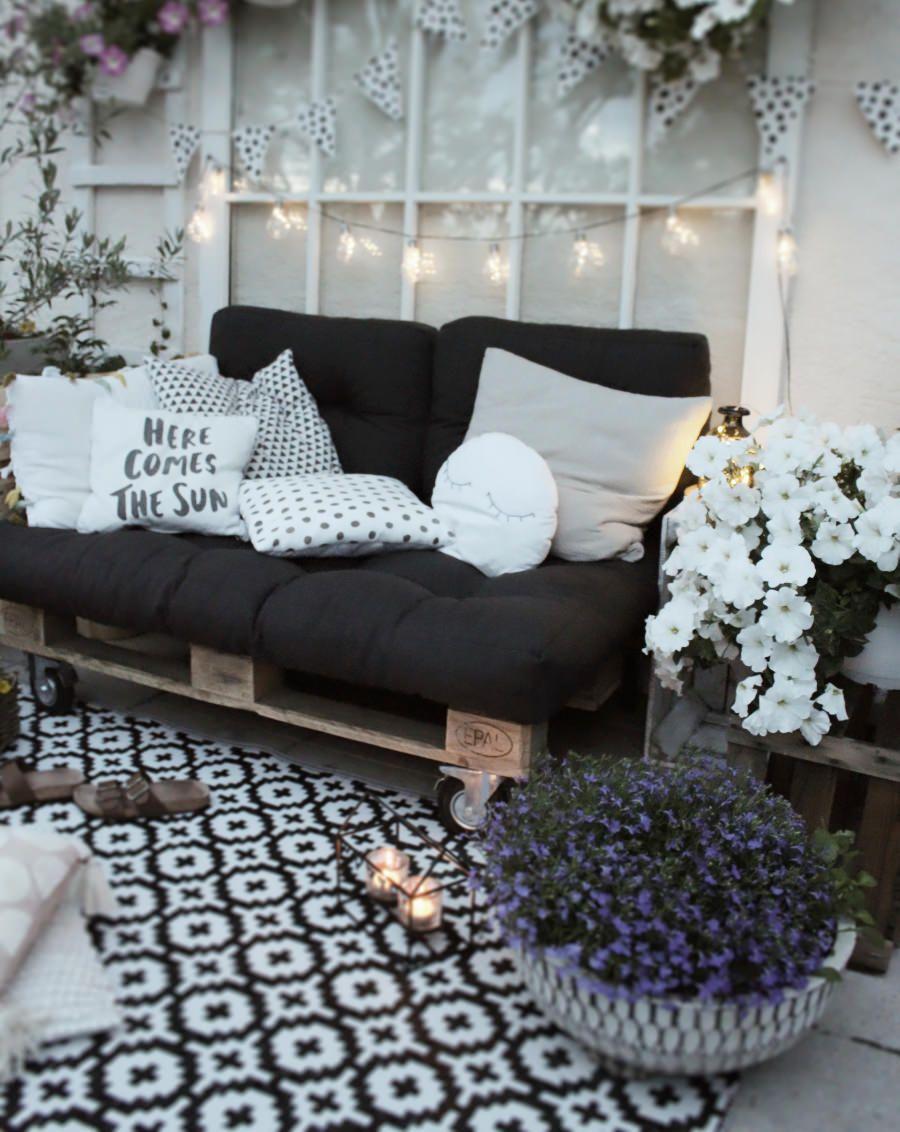 DIY Möbel aus Paletten selber machen - Balkonmöbel selber bauen #palettendeko