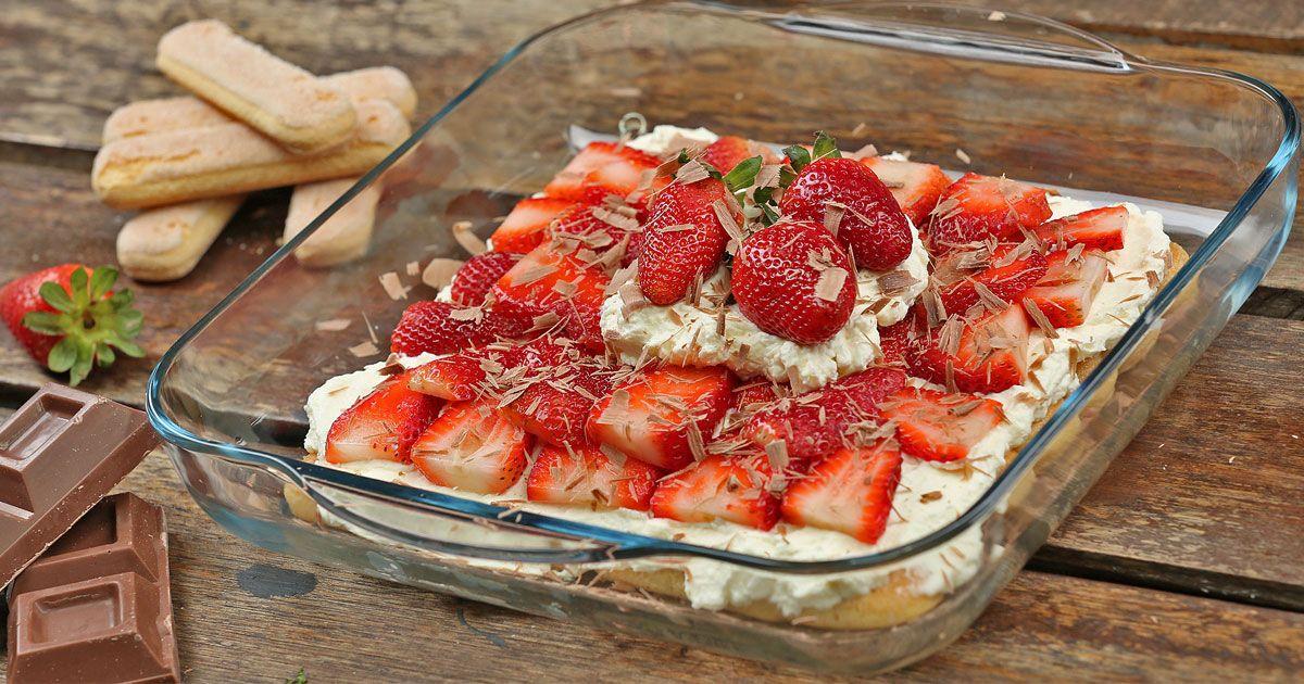 طريقة عمل حلى طبقات بسكويت ليدي فنجر - #Lady #fingers #layered #dessert #recipe