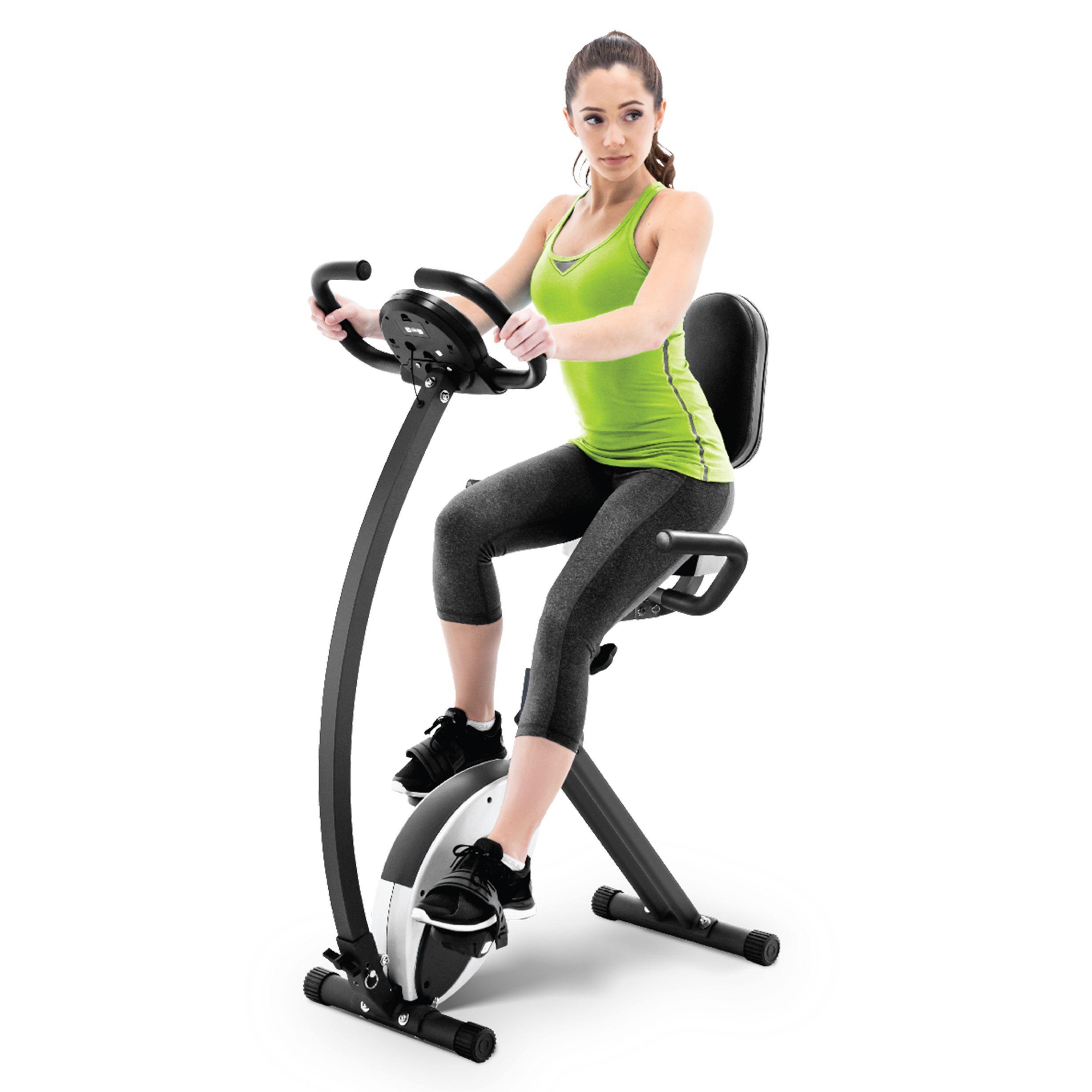Marcy Foldable Electronic Exercise Bike | Upright exercise ...
