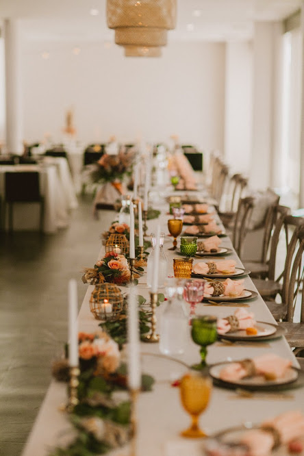 Photo of Boho Wedding Head Table Decor