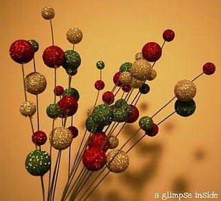 christmas decor glittery tree picks - Christmas Tree Picks