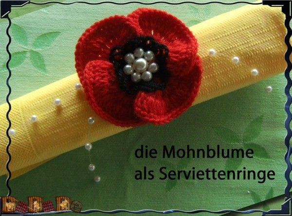 Mohnblume kostenlos häkeln, ein Dekoration-Genie | Blumen, die nicht ...