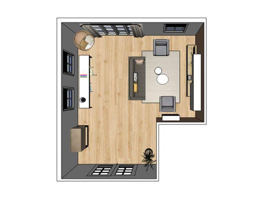 interieuradvies woonkamer de wilp groningen indelingsplan ...