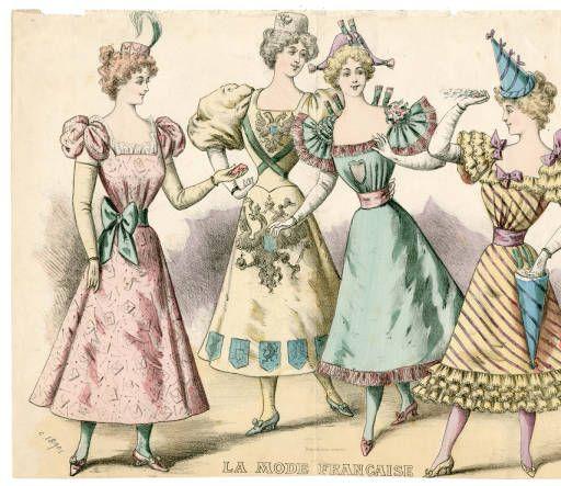Theatre Costume 19th-20th century, Plate 022.. Fashion plates, 1700-1955. The Costume Institute Fashion Plates. The Metropolitan Museum of Art, New York (b17520939) #fashion