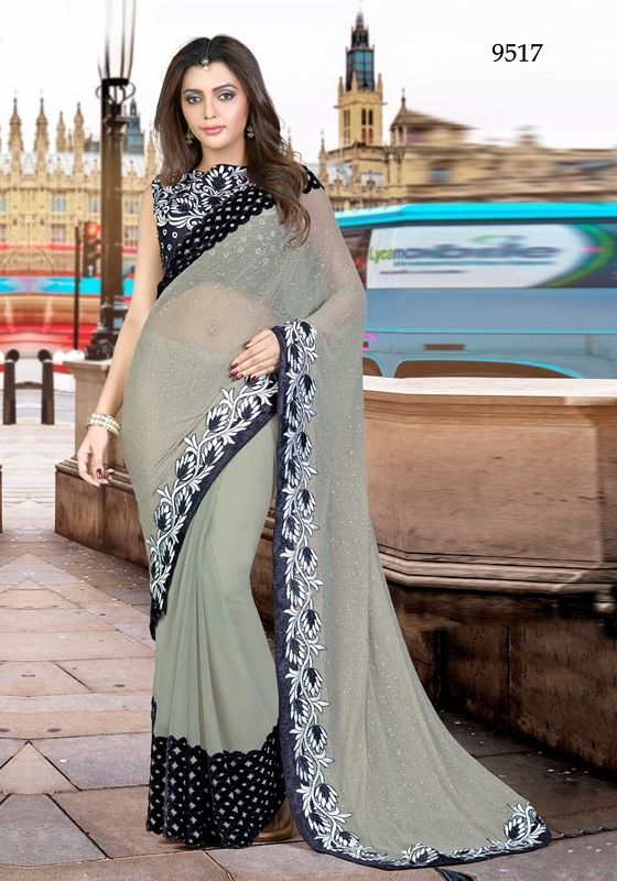 Bollywood Saree Indian Pakistani Ethnic Designer Sari Wedding Partywear Saree