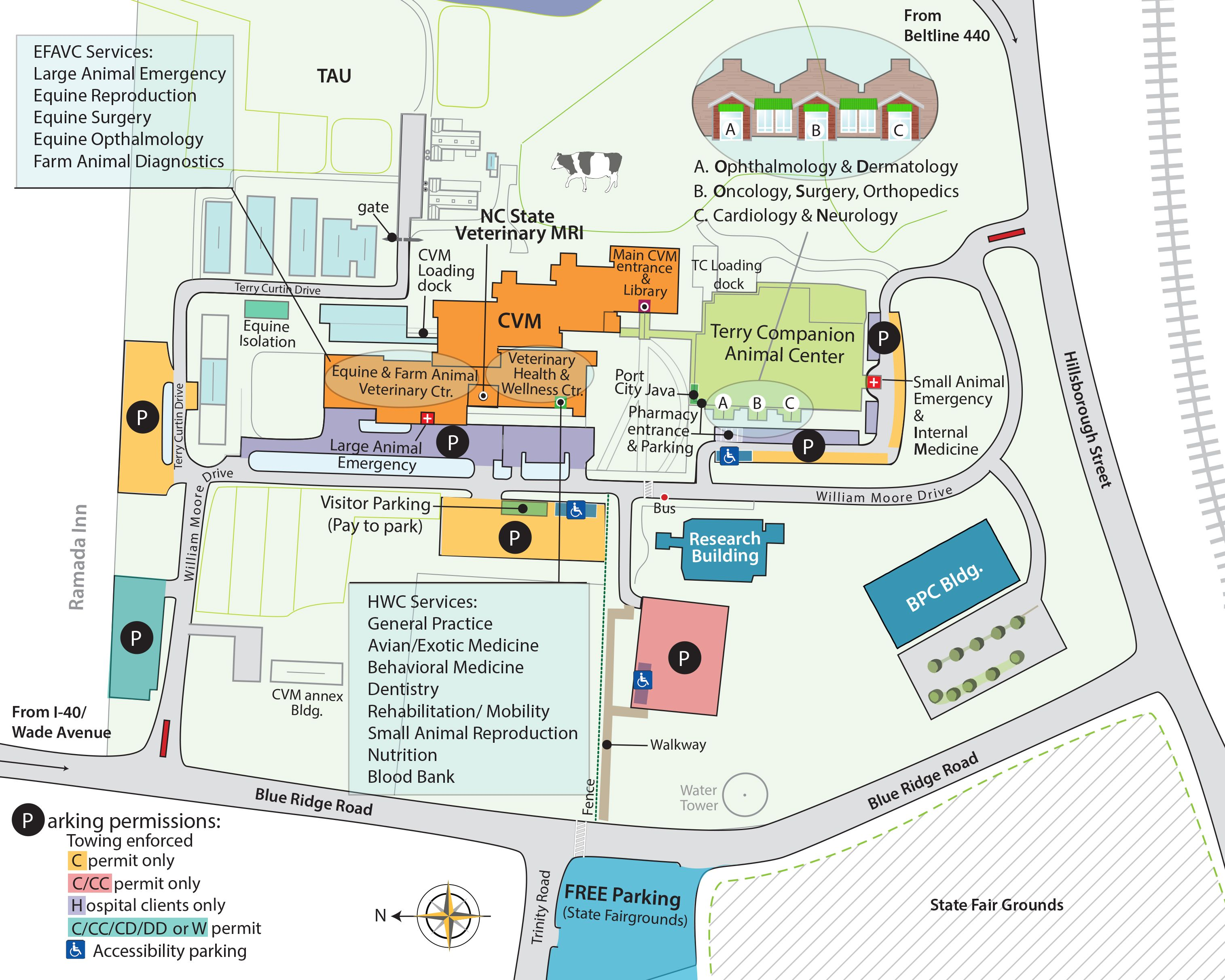 T foetus testing NC State | Veterinary services, Campus map, Map