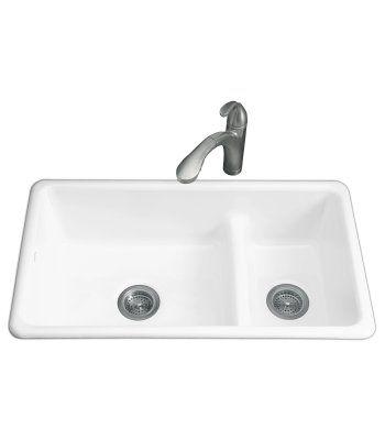 Sink Kohler White Cast Iron Has Really Nice Low Divide I Spoke