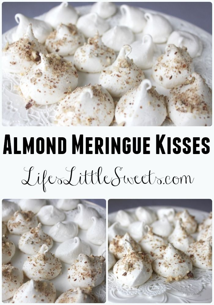 Almond Meringue Kisses -  LifesLittleSweets