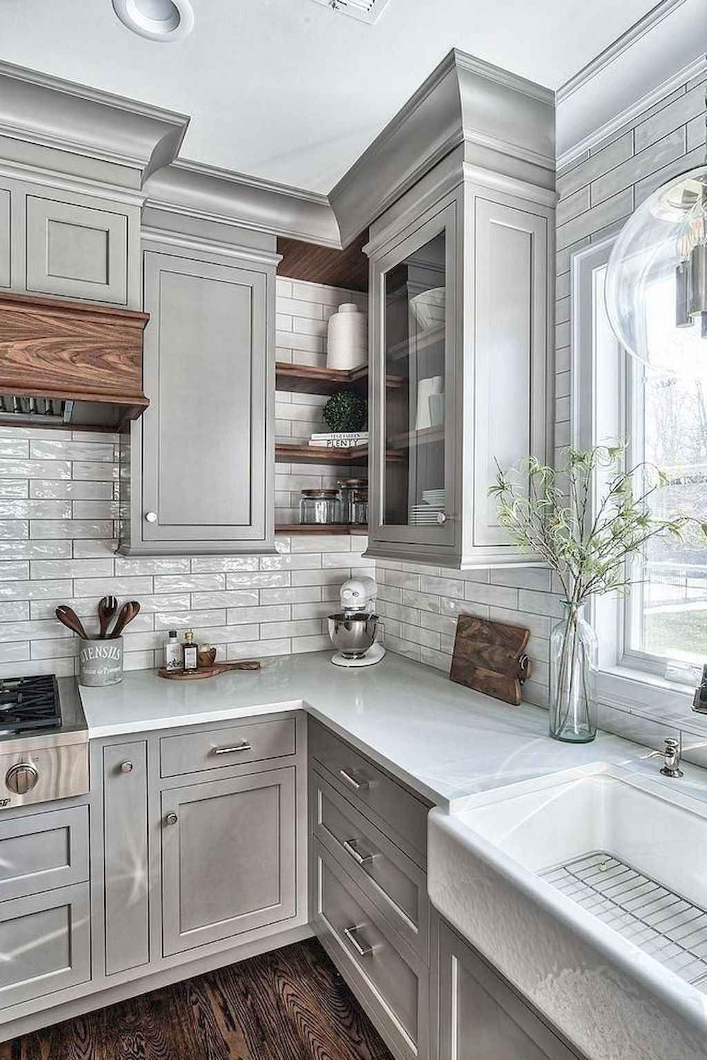 53 Gorgeous Gray Kitchen Cabinet Makeover Design Ideas