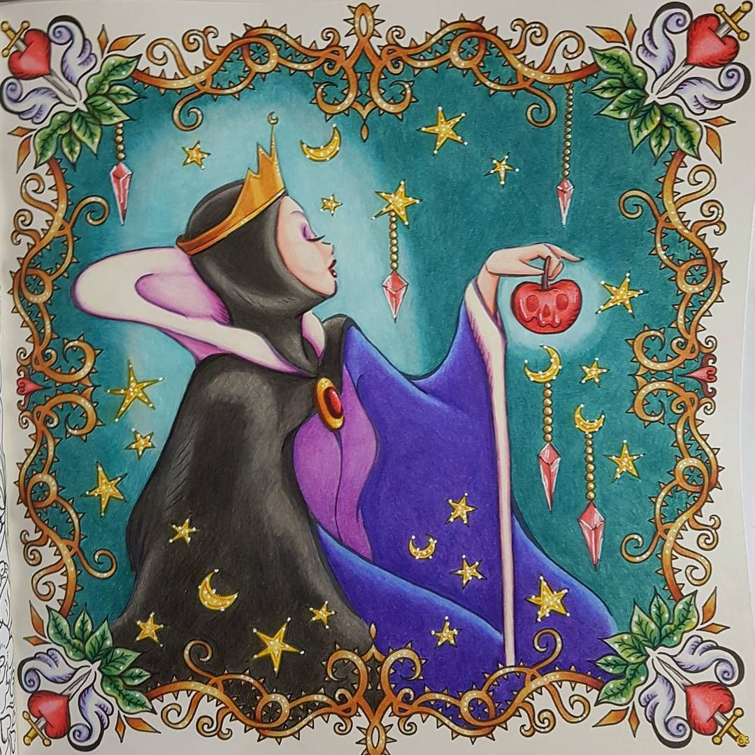evil queen from disney lovely coloring lesson bookinko