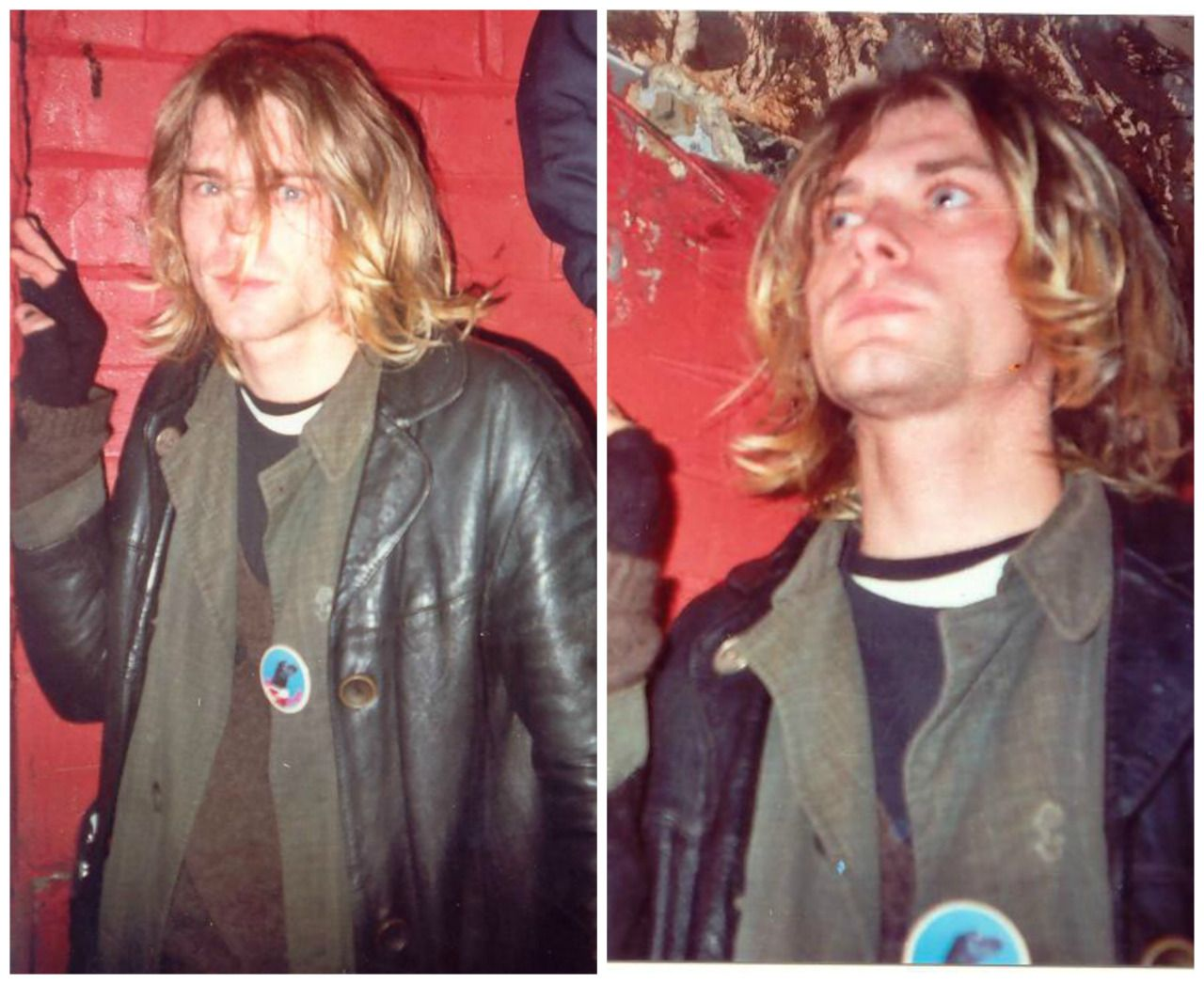 Unplugged In New York Red Leather Jacket Leather Jacket Kurt Cobain [ 1046 x 1280 Pixel ]