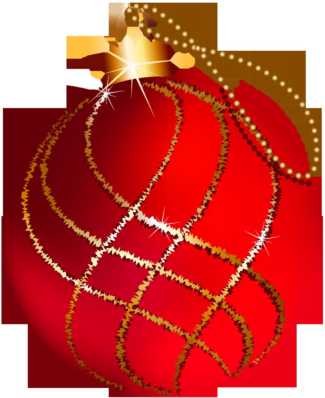 Transparent Gold Christmas Tree Ornaments Clip Art