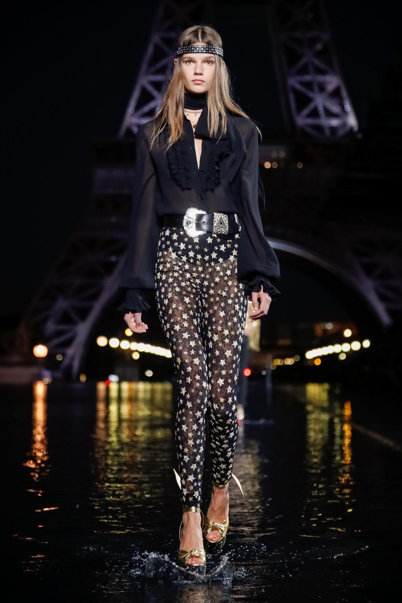 3f2b48e9470 Saint Laurent Spring 2019 RTW Collection - Paris Fashion Week | Modă ...