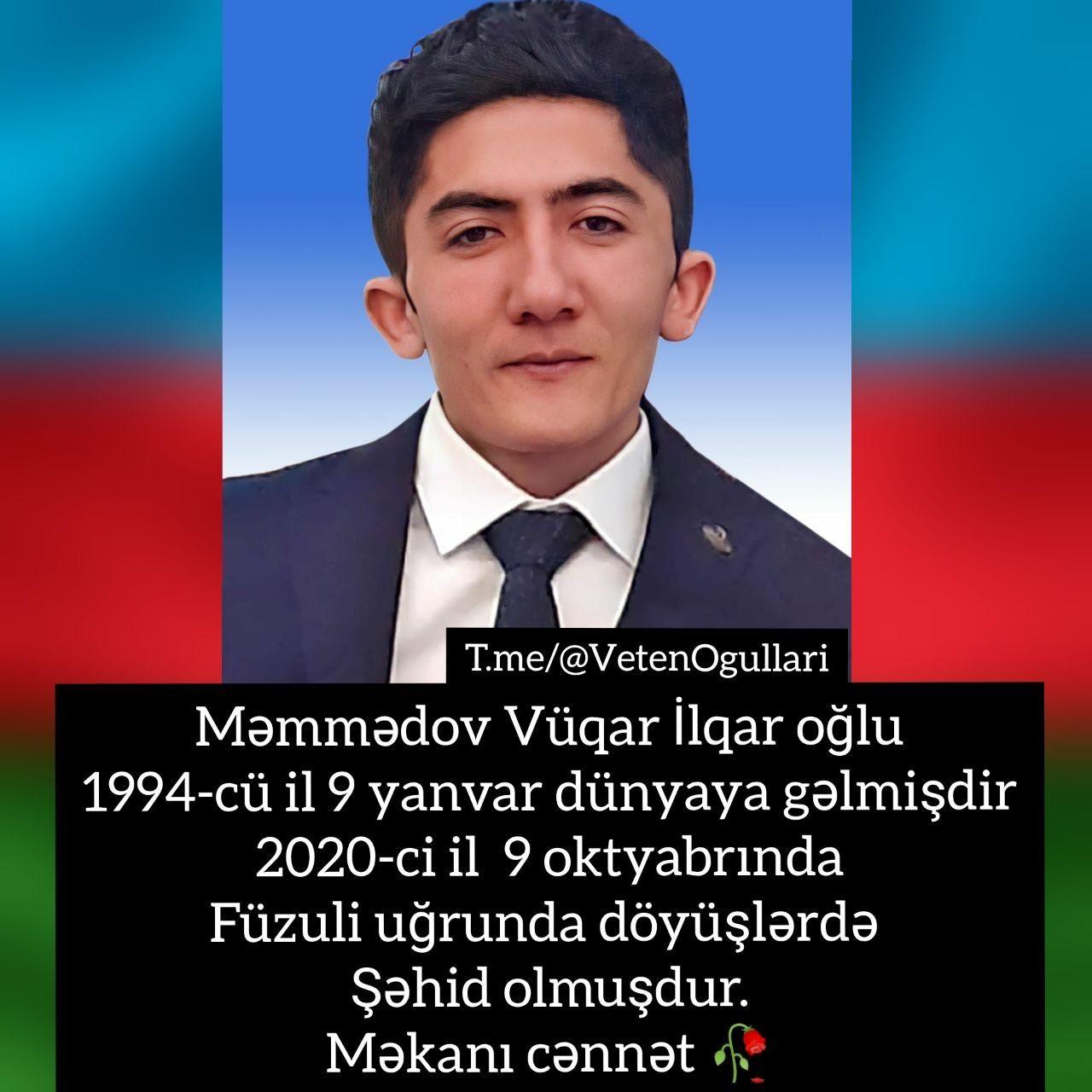 Səhid Məmmədov Vuqar Ruhun Sad Olsun Səhidim Azerbaijan