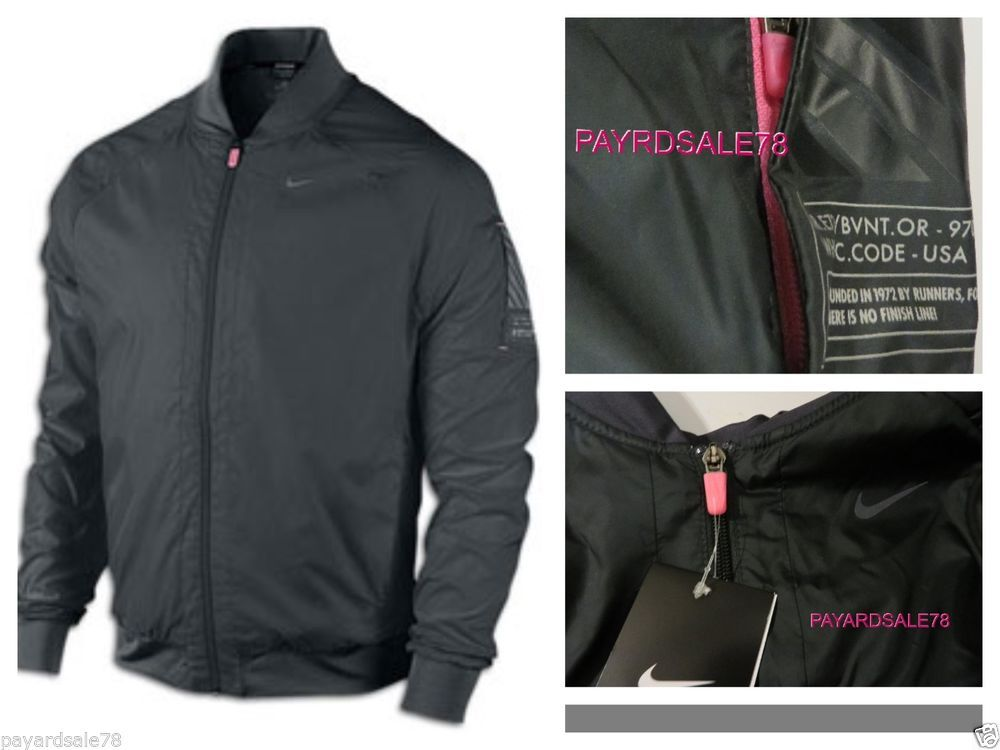 9ed0f2e1146d MEN S SMALL NIKE RUNNING JACKET DRI-FIT BOMBER SPHERE PINK CANCER SUPPORT  RARE  Nike  RUNNINGJACKETWATERREPELLENT