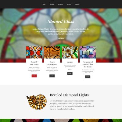 Stained Gl Studio Responsive Website Theme