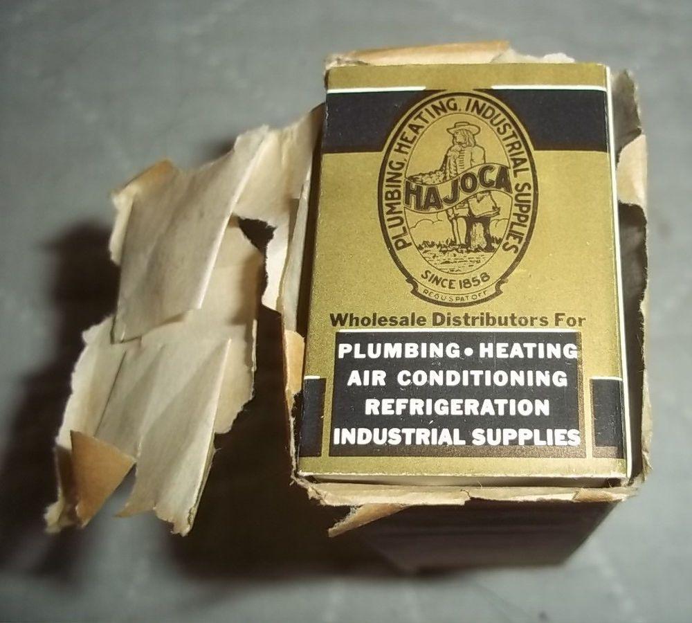 Hajoca Vintage Sleeve Match Boxes Plumbing Heating Industrial ...