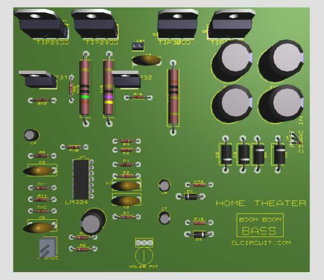 Component and PCB Subwoofer | CIRCUITS | Pinterest | Theater ...