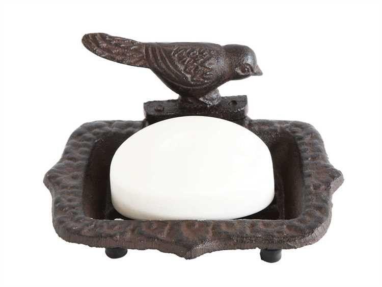 Cast Iron Rust Finish Bird Soap Dish