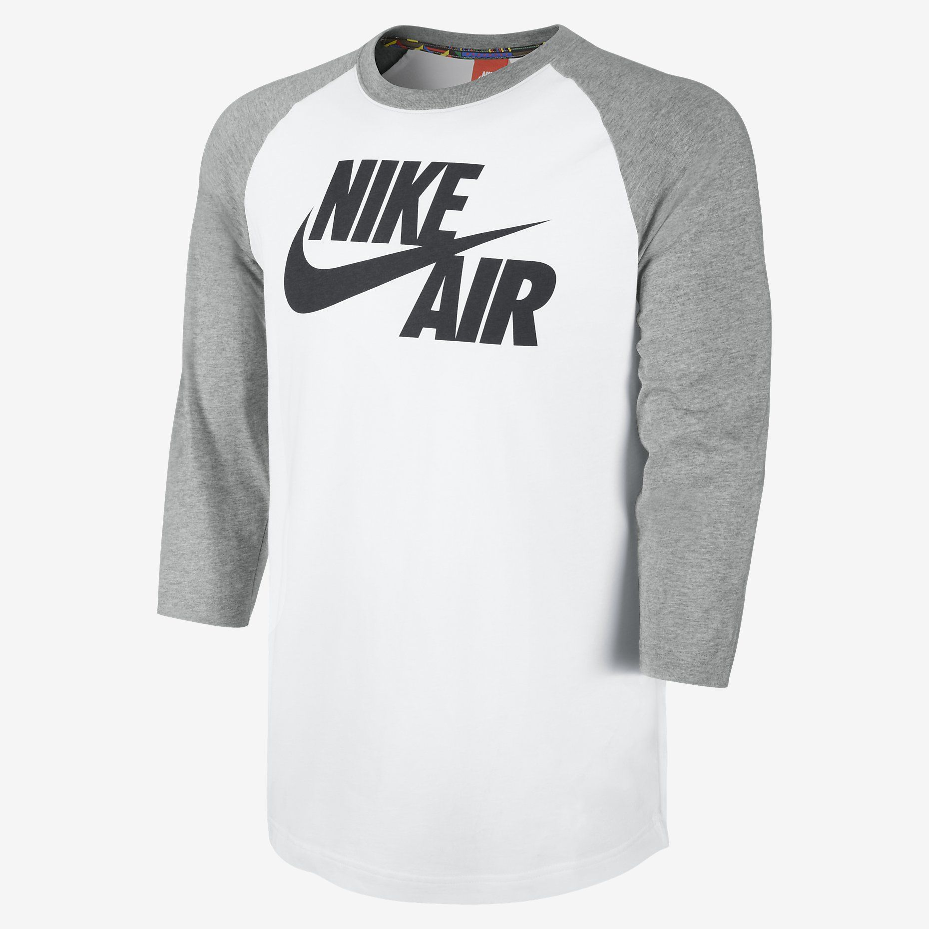 nike roshe run mens grey and white baseball tee