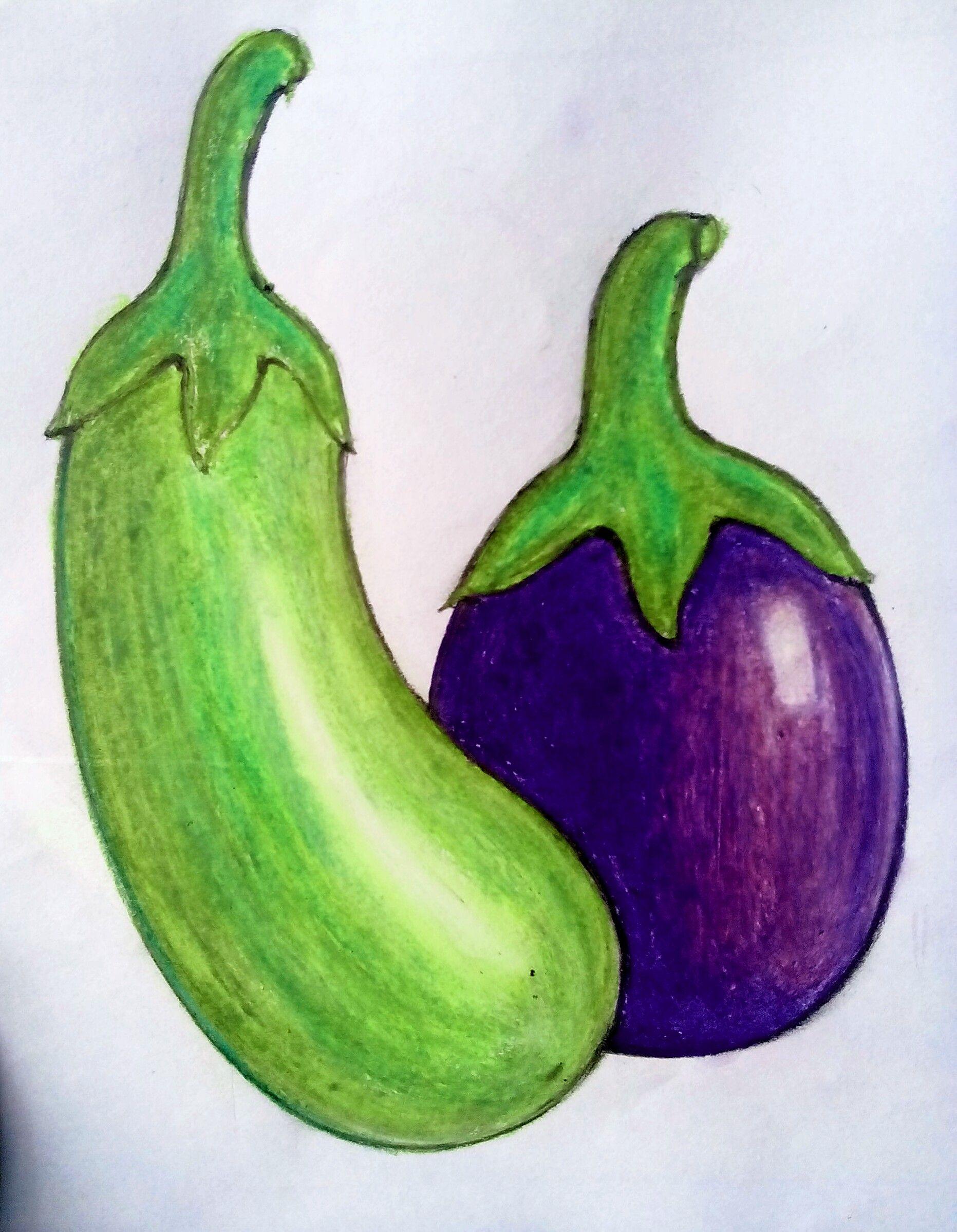 Brinjal Art Drawings For Kids Basic Drawing For Kids