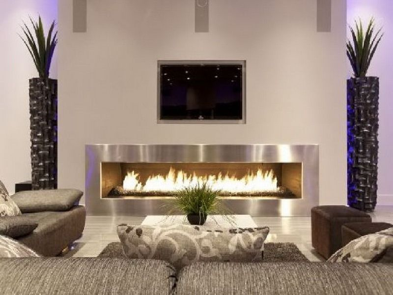 interior great design of interesting interior design style with white wall and fireplace with white floor and gray sofa with good and best decorating mode - Home Decorated