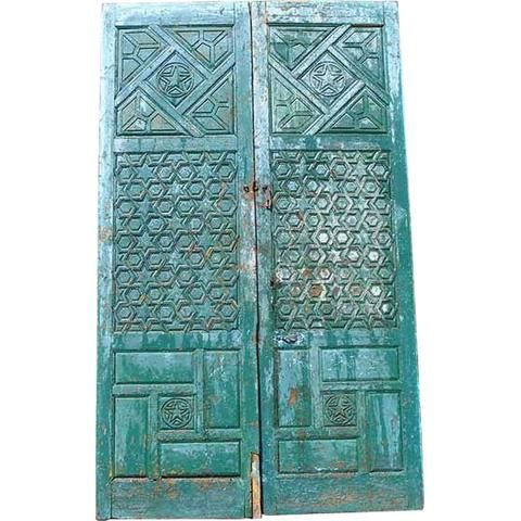 Large Moorish Painted Pine Double Door  sc 1 st  Pinterest & Large Moorish Painted Pine Double Door | Craft Studio Doors ... pezcame.com