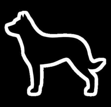 Beauceron Dog Silhouette S Sticker By Jenn Inashvili Dog Silhouette Great Dane Dog Lovers Art