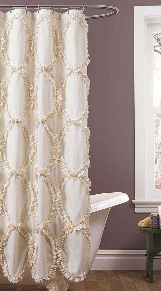 Ivory Riviera Shower Curtain
