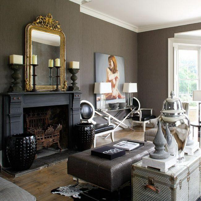 Designer Einrichtung einrichtung designer interieur ideen spiegel bild kamin