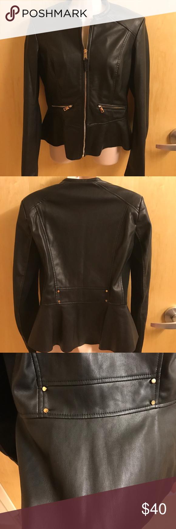NWT Zara Faux Leather Jacket Sz Med Brand new,