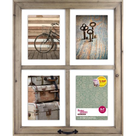 Better Homes and Gardens 4-Opening Rustic Windowpane Collage Frame ...