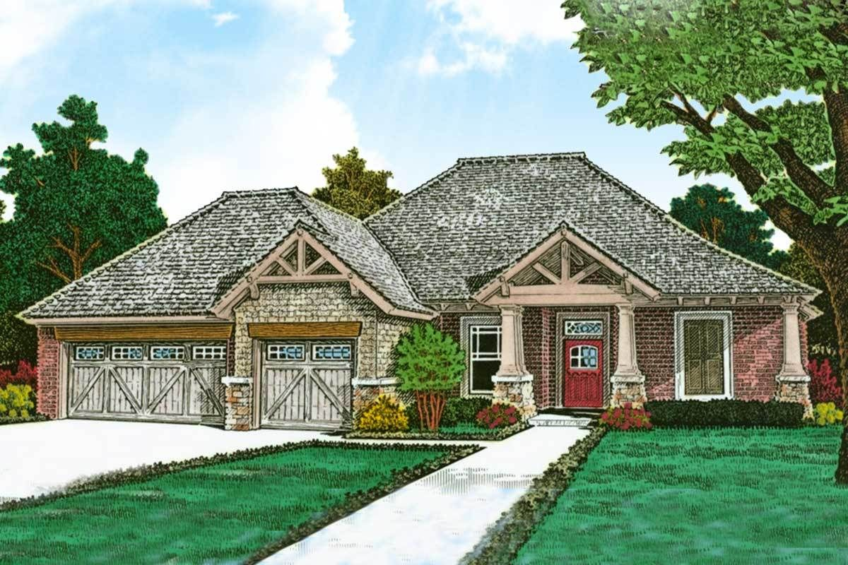 Plan 48530fm Exclusive One Story European House Plan Ranch Style House Plans House Plans One Story Best House Plans