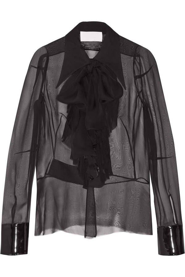 Chic Maison Margiela Fashion Transparent Chemisier Mode SwqY5FSC
