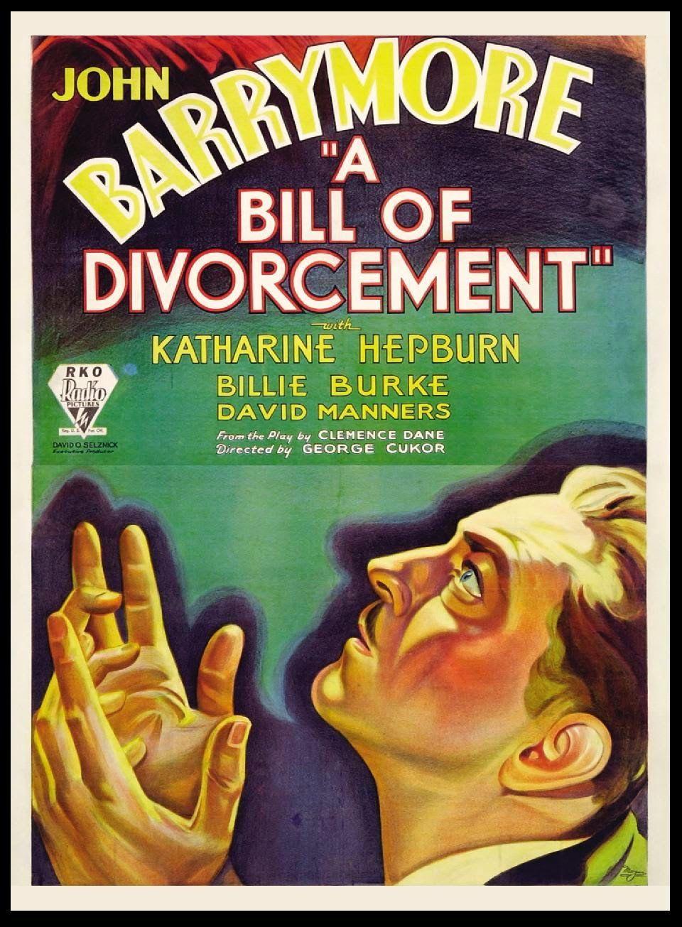 A bill of divorcement John Barrymore movie poster