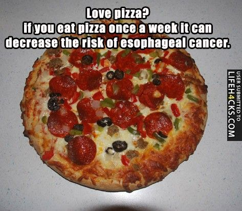 Love pizza if you eat pizza once a week it can decrease the risk of if you eat pizza once a week it can decrease the risk of esophageal cancer forumfinder Choice Image