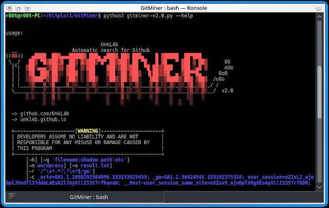 GitMiner v2 0 - Tool For Advanced Mining For Content On