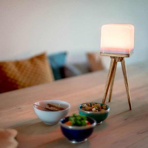 Lucis Wireless Lamp Wooden Tripod Livingroom