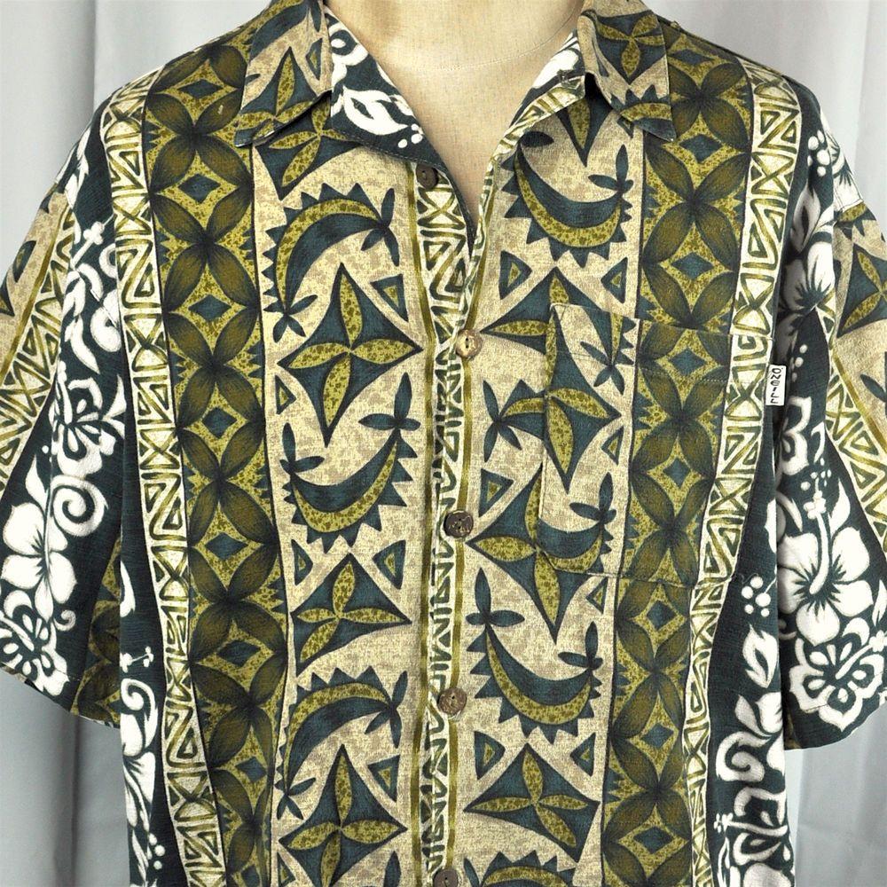 Another Amazing Barkcloth Tiki Hawaiian Shirt! Aloha! Made in Hawaii dOFqW1BZHG