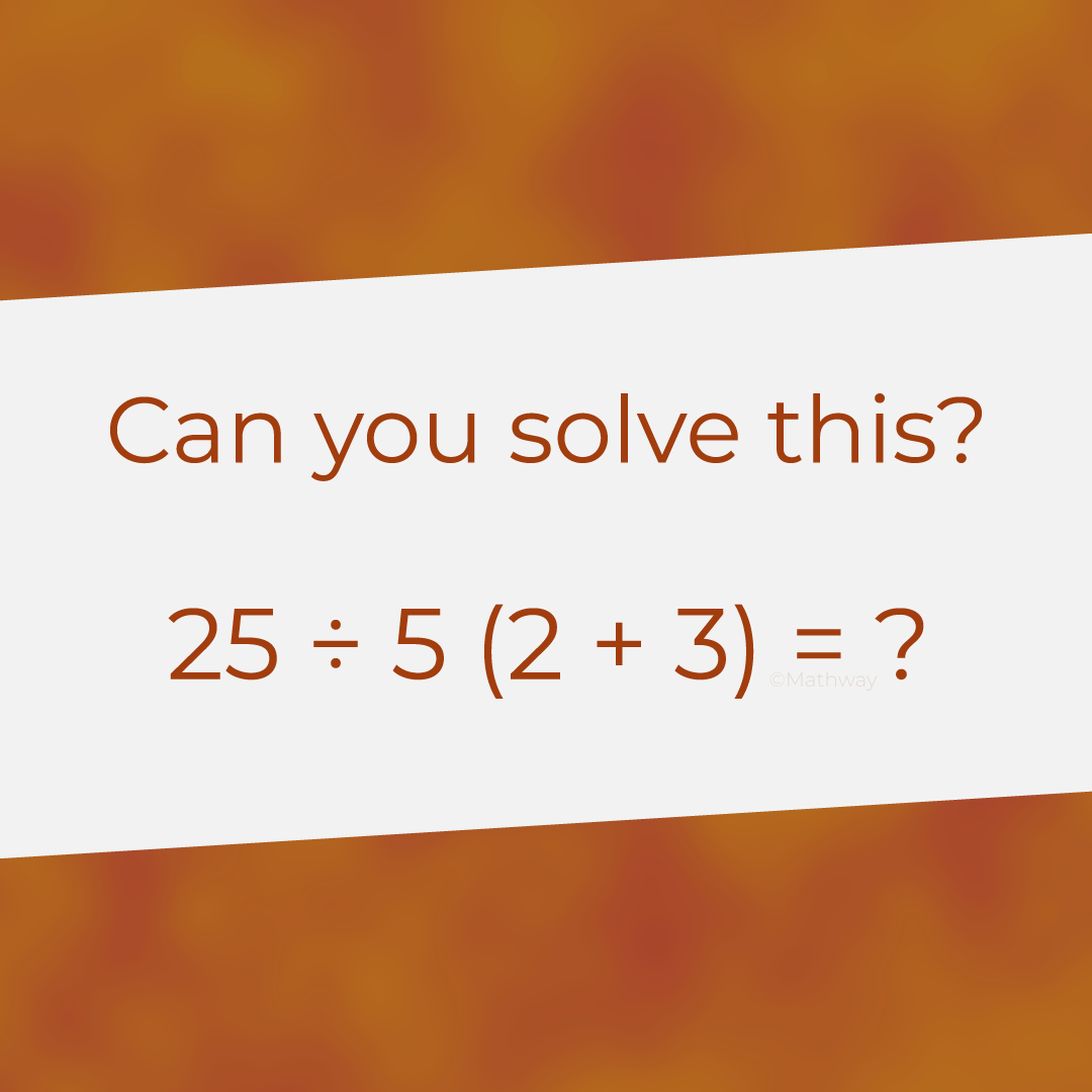 We want to hear your answers! Brain teasers, Math, Solving