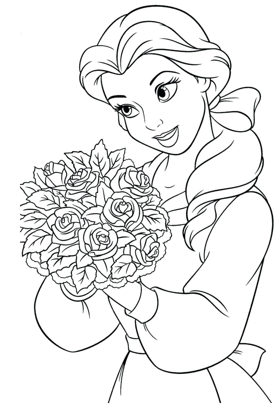 Floral Coloring Pages Coloring Pages Cute Flower Coloring Pages